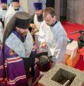 В Фили-Давыдкове совершено освящение закладного камня храма Смоленской иконы Божией Матери